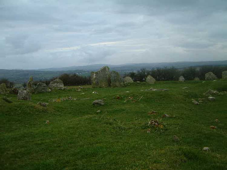 The Beltany Stone Circle.
