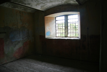 A prison cell at Bodmin Jail.