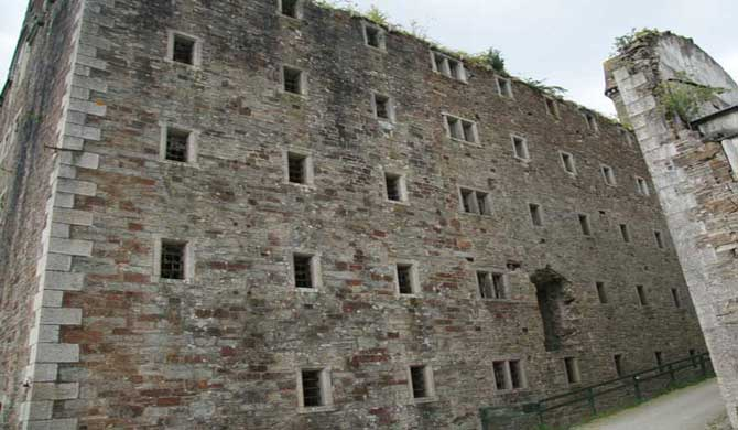 Bodmin Jail's outer wall.