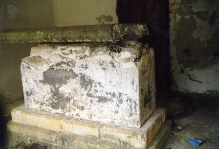 Inside of Squire Cabell's tomb, Buckfastleigh Churchyard, Devon.
