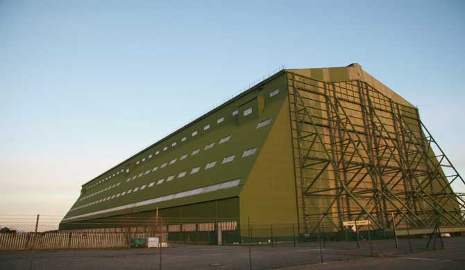 One of the Cardington hangars.