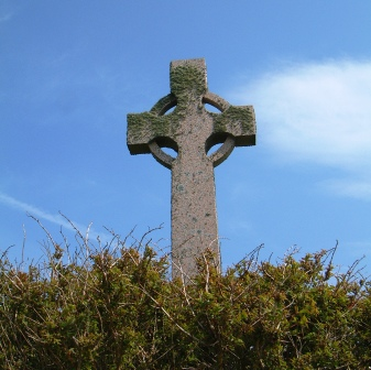 A Celtic Cross on the Island of Iona.
