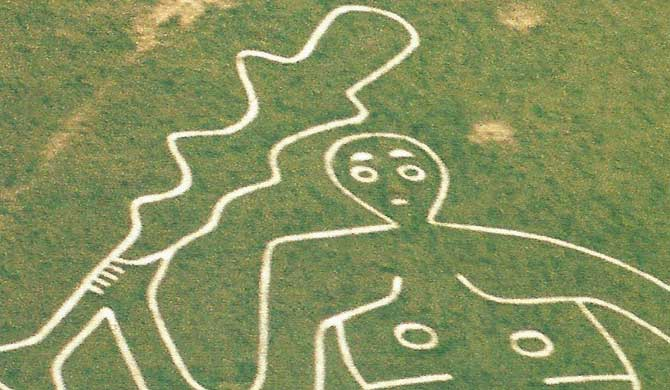 The Cerne Abbas Giant.