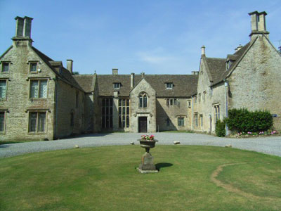 A view of Chavenage, the haunted house in Tetbury, Gloucestershire.