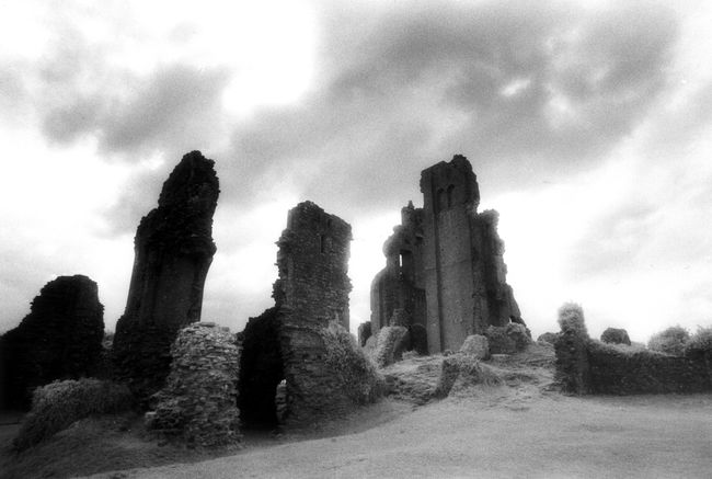 The tottering ruins of Corfe Castle.