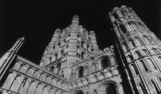 The exterior of Ely Cathedral.
