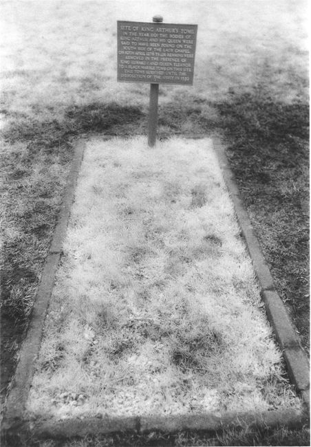 The grave of King Arthur at Glastonbury.