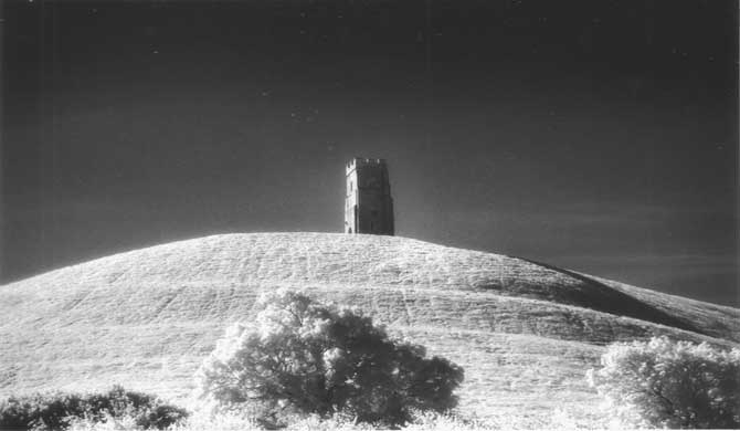 A view of Glastonbury Tor.
