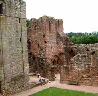 The interior of Goodrich Castle.