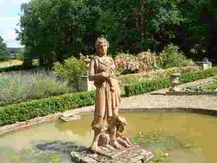 A Statue in the garden at Hellens.