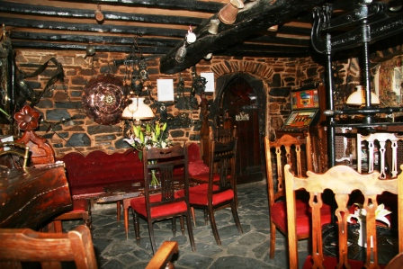 An interior view of The Highwayman Inn, Devon.