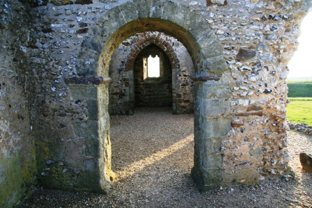The interior of Knowlton Church.