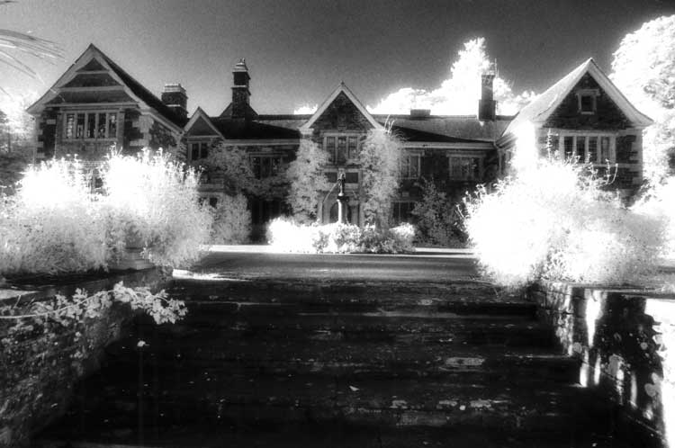 A view of the haunted Lewtrenchard Manor in Devon