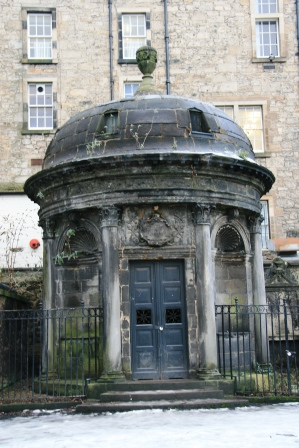 The Haunted Mackenzie Vault in Greyfriars Kirkyard, Edinburgh.
