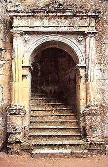 A doorway at Old wardour Castle