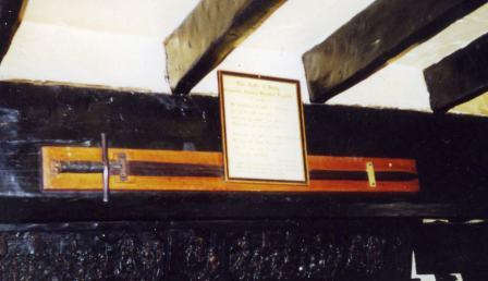 The sword  that Killed Thomas A Becket displayed at the Riverside Inn, Devon.