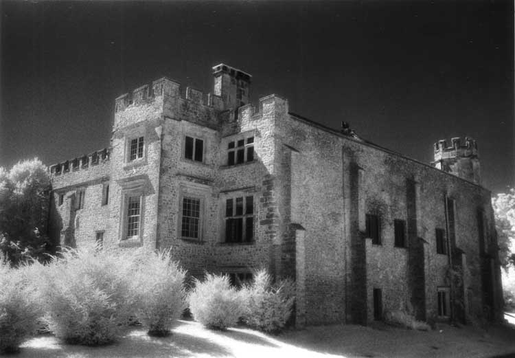 A view of the haunted Shute Barton Manor