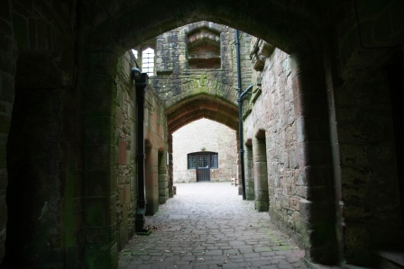 The interior of St Briavels Castle.