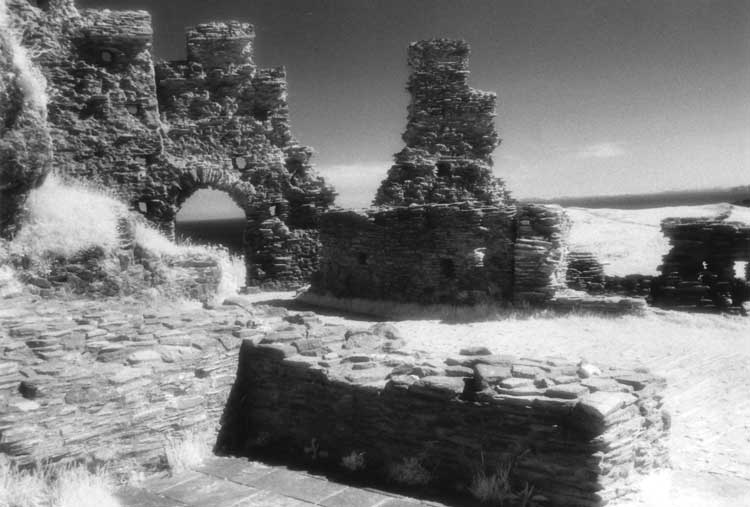 The ruins of Tintagel Castle.