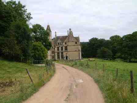 The approach to Woodchester Mansion