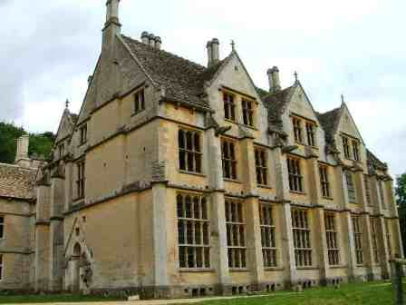 A front view of Woodchester Mansion